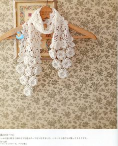 Irish crochet motif scarf