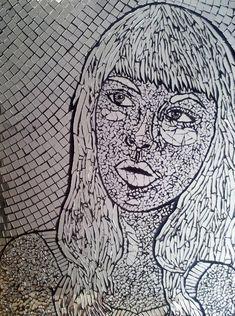 Broken mirror mosaic - black grout