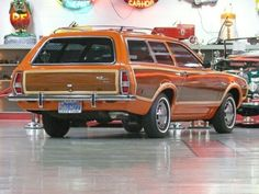 """1973 Ford Pinto wagon with the """"Squire"""" trim."""
