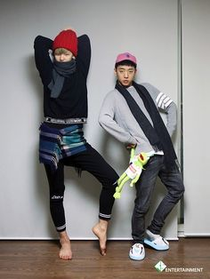 There you have it. Father and son. LMFAO (Yongguk x Zelo)