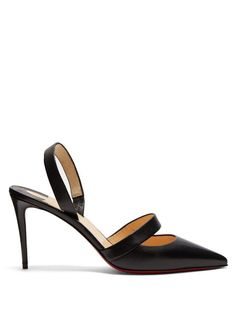 Get the must-have sandals of this season! These Christian Louboutin Black Actina 85 Leather Slingback Sling Pumps Sandals Size EU 40 (Approx. US Regular (M, B) are a top 10 member favorite on Tradesy. Block Heel Loafers, Heeled Loafers, Caged Heels, Stiletto Heels, Shoes Heels, Work Pumps, Red Louboutin, Casual Wedding, Patent Leather Pumps