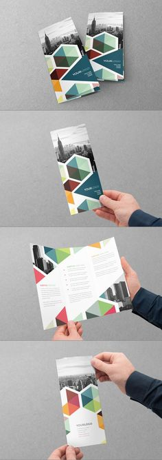 I really like the analogous color scheme that this brochure has. It works really well. I wish there was a little bit more variety though. Web Design, Flyer Design, Layout Design, Creative Design, Print Design, Logo Design, Graphic Design Brochure, Brochure Layout, Brochure Inspiration
