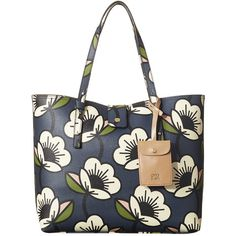 Orla Kiely Passion Flower Tillie Bag (385 BGN) ❤ liked on Polyvore featuring bags, handbags, blue, flower purse, flower handbags, flower print purse, floral print handbags and floral purse