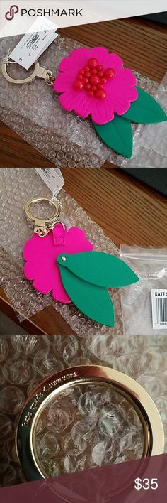 NWT Kate Spade Flower Keyfob Perfect for Spring. Brand new with tags. Kate Spade Marjorelle Key Fob in pink and green. $ firm unless bundled. Thanks for visiting my closet. kate spade Accessories Key & Card Holders