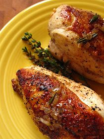 Dad Cooks Dinner: Sear Roasted Chicken Breasts with Shallot Herb Pan Sauce Delicious & oh so easy...I used a bone on skin on chicken breast!!