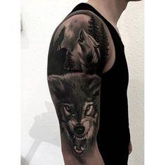 Ahsj Stag Tattoo, Angry Wolf, Top Tattoos, Tatoos, World Tattoo, Flash Art, Tattoo Designs, Tattoo Ideas, Beautiful Tattoos
