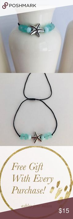 """Handmade Starfish Bracelet The Starfish symbolizes regeneration, renewal, and self-sustainability.   This unique bracelet is all you need to complete your look for any occasion on a daily basis. It is elegant and sophisticated for the everyday classy woman.    SIZING and MEASUREMENTS:  • One Size  • CUSTOM SIZING: let me know your size upon checkout •""""Note to Seller""""  • Each bracelet is made-to-order, it is very important you measure your wrist before purchasing. Handmade Jewelry Bracelets"""