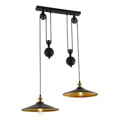 A metal rise and fall pendant ideal for dining tables or kitchens...