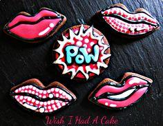 Pop Art Chocolate cookies by Wish I Had A Cake