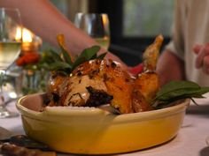 Roast Chicken with Green Herb Stuffing from FoodNetwork.com heartland table show
