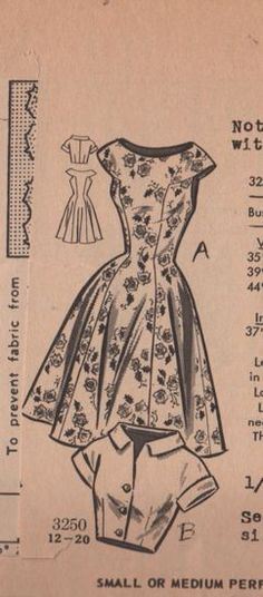 New photos on this wiki - Vintage Sewing Patterns, Mail Order 3250.jpg