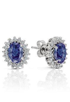 14K White Gold Tanzanite & Diamond Earrings, 1.86 TCW - Earrings - Women