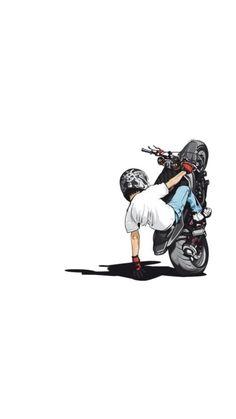 Motorcycle Art, Bike Art, Hd Phone Wallpapers, Cute Wallpapers, Cartoon Pics, Cartoon Art, Moto Cross Yamaha, Duke Bike, Bike Drawing