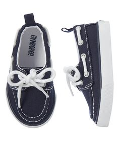Toddler Boys Gym Navy Boat Shoes by Gymboree