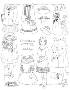 Helen Page Paper Doll  Edwardian Lady Dorthea  Color & Cut