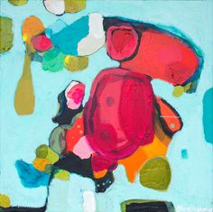"""""""China Trip"""" by Claire Desjardins. 24""""x24"""" - Acrylics on canvas. #Colorful #abstract #art"""