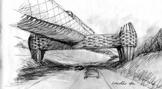Beautiful sketch for a striking bridge  gold line bridge by andrew leicester completed