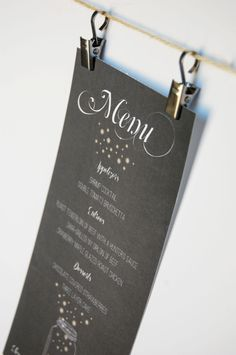 Mason Jar Wedding Menu Card. $0.90, via Etsy.