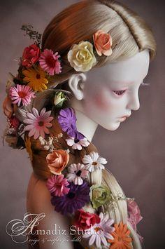 Rapunzel-inspired wig for BJD!!!