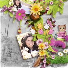 Le bonheur est dans le pré by Kasta Gnette avec Christine Boudonnet  Photo gratuit de Pixabay http://digital-crea.fr/shop/… *  Template 19 de Pat Scrap  http://www.digi-boutik.com/boutique/index.php…