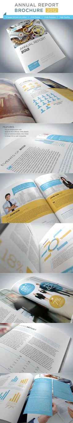 Many cool business brochures designs by this guy.  Annual Report Brochure by Andrej Sevkovskij, via Behance
