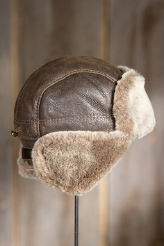 7a7291fff3c Shearling Sheepskin Trapper Hat