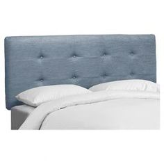 """Pine-framed tufted headboard with tufted upholstery and foam padding. Handmade in the USA.  Product: HeadboardConstruction Material: Pine wood, metal, and polyesterColor: Denim light blueFeatures: Handmade in the USADimensions: Twin: 51"""" H x 41"""" W x 4"""" DFull: 51"""" H x 56"""" W x 4"""" DQueen: 51"""" H x 62"""" W x 4"""" DKing: 51"""" H x 78"""" W x 4"""" DCalifornia King: 51"""" H x 74"""" W x 4"""" DNote: Product is for headboard onlyCleaning and Care: Spot clean only Denim Fabric, Denim Quilts, Joss And Main, Signature Style, Upholstery, Contemporary, Bed, Pine, Room"""