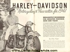Cover Story: Harley-Davidson - Motorcycling's Pace-setter for 1941 - Featuring the 1941 Models - 45 WL Twin, 45 WLD Twin, 45 WLDR Twin, 74 Twin, 80 Twin, 61 Twin, Police Model, Sidecar, Model G Servi-Car, Model GD Servi-Car, Package Truck for 1941; News from the Club Mailbag; more  Complete, vi