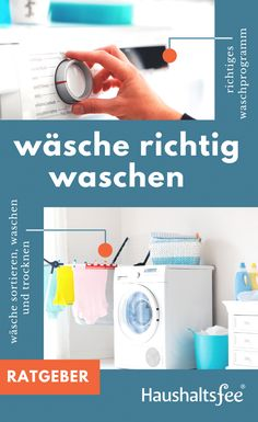 Ratgeber: Wäsche richtig waschen | Haushaltsfee.org Tricks, Washing Machine, Laundry, Home Appliances, Lol, Interior, Bathroom, Laundry Room, House Appliances