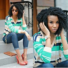 twist out maybe? most likely a braid out...either way that style is HOT!