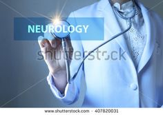 Doctor holding stethoscope with  NEUROLOGY  text , Health concept