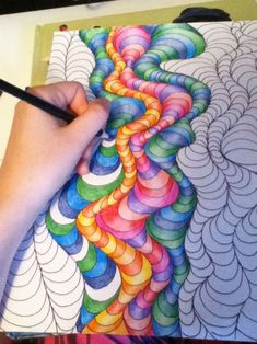 Colored pencil – paper art – impressive works by the best paper artists – Crayons Dibujos Zentangle Art, Zentangle Drawings, Zentangle Patterns, Art Drawings, Zentangles, Illusion Kunst, Illusion Art, Illusion Paintings, 7th Grade Art