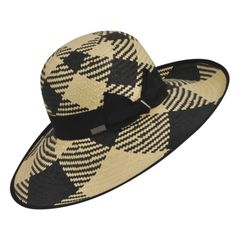 Black and tan sun hat