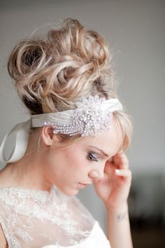 Gorgeous bridal hair accessories from Shut The Front Door | onefabday.com
