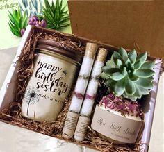 Gift for Mom-Birthday Gift Box-Mom Gift Mom Birthday Gift, Birthday Gift Baskets, Birthday Gifts For Best Friend, Best Friend Gifts, Special Birthday, Birthday Box, Birthday Ideas, Best Gift For Sister, Birthday Souvenir