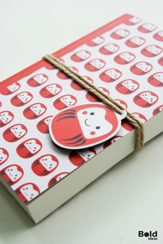 Stationery Design : Daruma Collection by kanit wipvasutti, via Behance