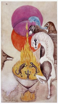 Section from a Leonora Carrington painting