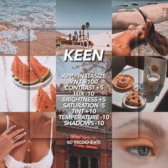 A nice theme for those who love beaches and travels. This filter creates a pr. Best Vsco Filters, Insta Filters, Filters Instagram, Summer Filters Vsco, Free Vsco Filters, Vsco Pictures, Editing Pictures, Theme Pictures, Photography Filters