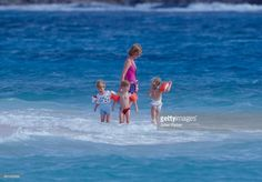 Diana, Princess of Wales, with Prince Harry , and her Niece's and Nephew's on holiday on Necker Island , on January 9, 1989 in Necker Island, British Virgin Islands.