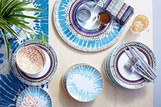 Inspired by tropical fruit and animal prints, this colorful new IKEA DRIFTIG collection of dinnerware and serveware are perfect for giving a bright splash to the dining table.