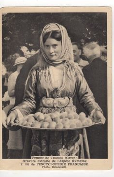 Vintage Pictures, Old Pictures, Old Photos, Greek Dress, Greek Costumes, Thasos, Greece Pictures, Old Greek, Greek History