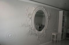 High Relief Sculpture by Goga Tandashvili Plaster Art, Plaster Walls, Decoration, Art Decor, Home Decor, Wall Design, House Design, 3d Wall, Wall Sculptures