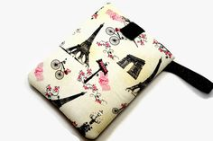 Hand Crafted Tablet Case from Vintage Paris Eiffel Tower Postcard Fabric/Case for:iPad, Kindle Fire HDX,Samsung Galaxy Tab, Nexus,iPad Air,
