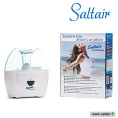 Ear infections, nasal congestion, cold or flu can be easily prevented by home salt therapy. Salt Therapy Device                 Saltair Ultrasonic Salinizer Tank capacity: 0.6 L   Buy Now Power: 8 W  www.tuisa.fi #asthma #cf #copd  #shortnessofbreath #saltair #earinfection