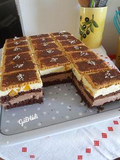 Dani szelet, az idén minden unokám névadója egy sütinek, a szülinapján! Hungarian Recipes, Eat Dessert First, Cake Cookies, Tiramisu, Sweet Recipes, Waffles, Deserts, Food And Drink, Nutella