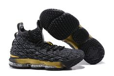 Retail Nike LeBron 15 Pride of Ohio Carbon Black Gold Men's Sneakers Basketball Shoes