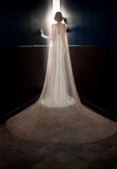"""Stardust"" Veil by Galia Lahav     Article: Victorian-Inspired Dresses by Galia Lahav Spring 2018     Photography: Eyal Nevo     Read More:   http://www.insideweddings.com/news/fashion/victorian-inspired-dresses-by-galia-lahav-spring-2018/3696/"