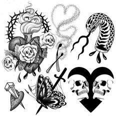 Skull Tattoo Design, Skull Tattoos, Black Tattoos, Tattoo Designs, Tatoos, Tattoo Ideas, Tattoo Flash Sheet, Tattoo Flash Art, Dream Tattoos