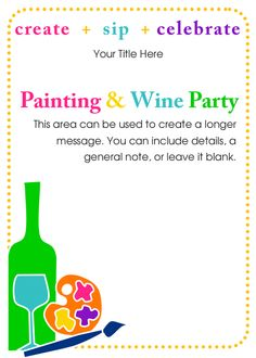 Painting+&+Wine+Party Invitation