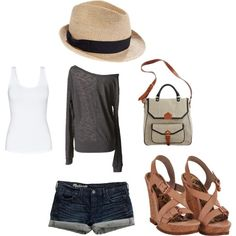 Really cool summer outfit, except it's too hot here for the long sleeves, so I'd have to mix and match this with boots and leggings or a different shirt.